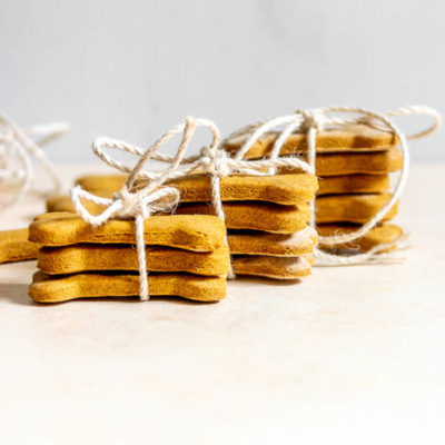 4-Ingredient Peanut Butter Pumpkin Dog Treats