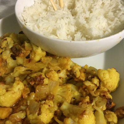 Cauliflower & Tofu Coconut Ginger Curry
