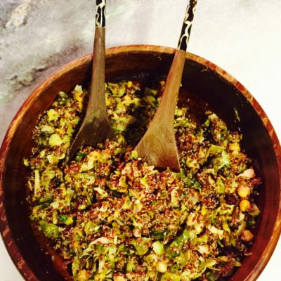 Brussel Sprout & Red Quinoa Salad