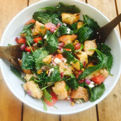 Grilled Watermelon Panzanella Salad