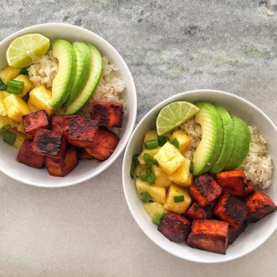 Swanky Sauce BBQ Tofu Rice Bowls