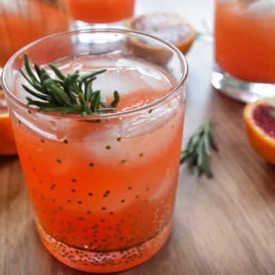 Blood Orange & Rosemary Vodka Cocktail