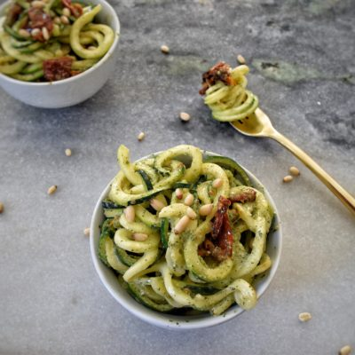Lemony Mint Pesto Zoodles