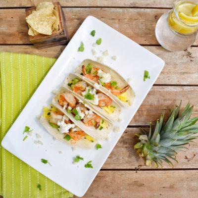 Pineapple Mojito Shrimp Tacos