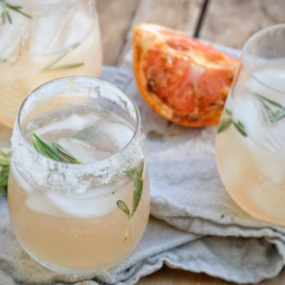 Broiled Grapefruit and Rosemary Margaritas