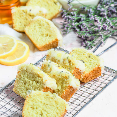 Lemon Lavender Loaf with Honey Butter Frosting