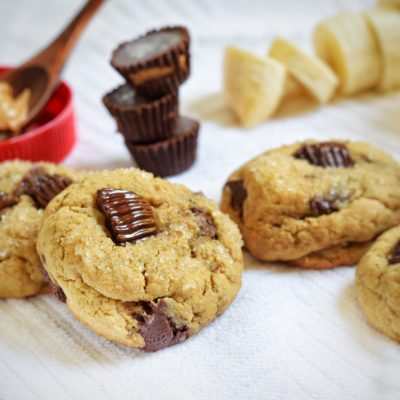 Peanut Butter Banana Reese's Cookies