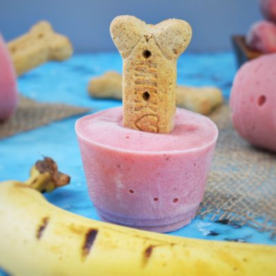 Strawberry Banana Pupsicles
