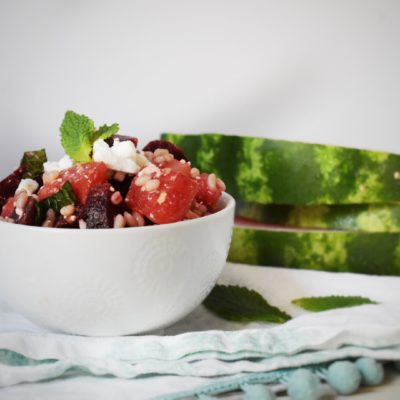 Watermelon, Beet and Barley Salad