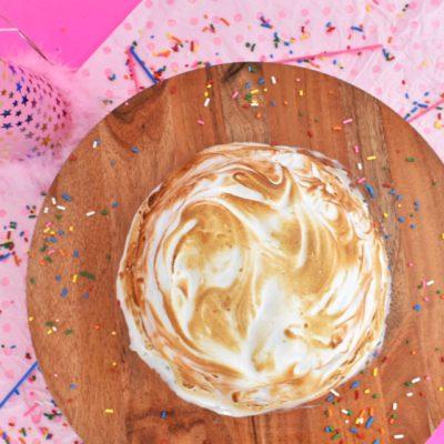 Birthday Cake Baked Alaska