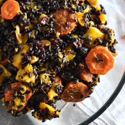 Fall Harvest Black Rice Salad