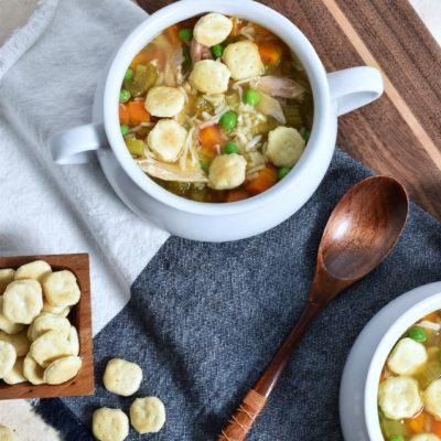 Leftover Rotisserie Chicken Soup