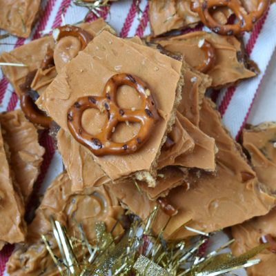 Butterscotch Pretzel Toffee