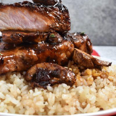 Fig Balsamic Pork Chops