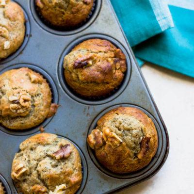 Banana Nut Poppy Muffins