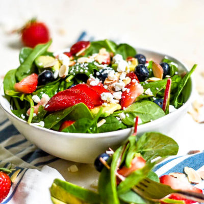 Summer Berry Salad with Honey Lime Vinaigrette