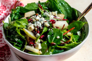 Pear and Pomegranate Christmas Salad