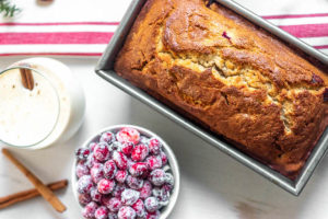 Cranberry Eggnog Breakfast Bread