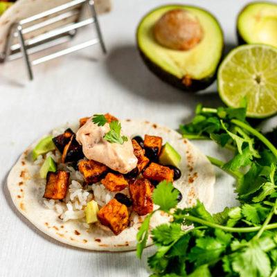 Spicy Sweet Potato Black Bean Tacos