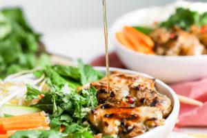 Vietnamese Lemongrass Chicken Noodle Bowls