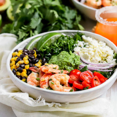 Cilantro Lime Shrimp Taco Salad
