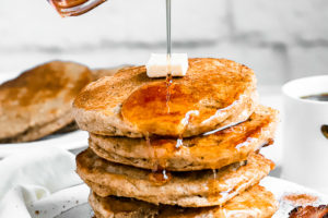 Fluffy Cinnamon Sugar Buttermilk Pancakes