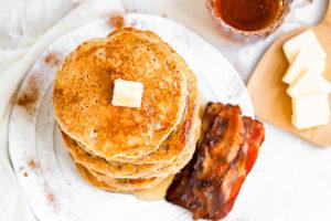 Fluffy Cinnamon Sugar Buttermilk Pancakes