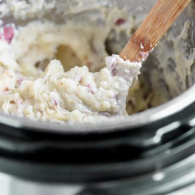 Instant Pot Garlic Parmesan Mashed Potatoes