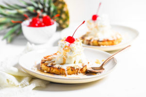 Grilled Pineapple Ice Cream Sundaes