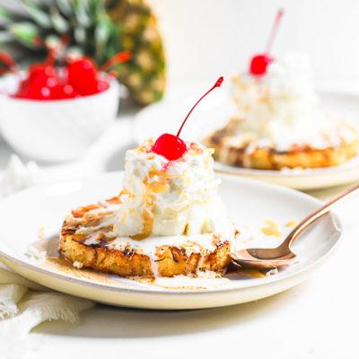 Grilled Pineapple Ice Cream Sundaes