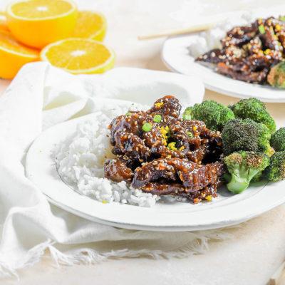 Air Fryer Orange Sesame Beef and Broccoli