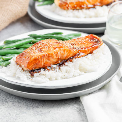 Air Fryer Maple Glazed Salmon