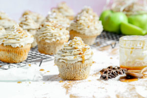 Apple Pie Stuffed Chai Spiced Cupcakes
