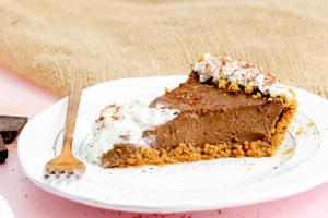 Chocolate Cream Pie with Pumpkin Spiced Graham Cracker Crust