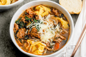 Easy Tortellini Sausage Soup