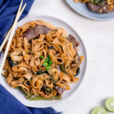 Beef Pad See Ew (Thai Stir Fried Noodles)