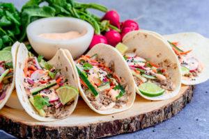 Instant Pot Pork Banh Mi Tacos