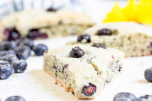 Food Processor Blueberry Scones