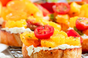 Orange and Goat Cheese Bruschetta