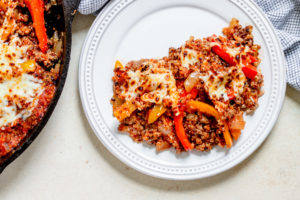 Stuffed Pepper Quinoa Skillet